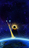 Gravitational lens, illustration