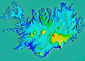 Iceland, LiDAR image