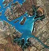 Saint George Basin in Australia, satellite image