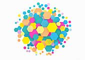 Abstract hexagonal pattern, illustration