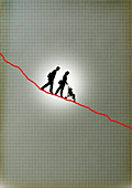 Decline of resources, conceptual illustration