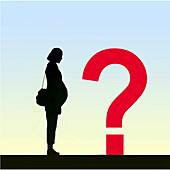 Uncertain pregnancy, conceptual illustration