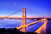 Golden Gate Bridge, San Francisco, USA, at dawn