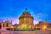 Radcliffe camera, Oxford, UK, at dusk