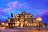 Semper Opera House, Dresden, Germany, at dusk