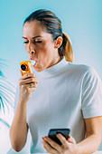 Monitoring respiratory illness with spirometer