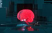 Artificial intelligence,conceptual illustration