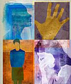 Women and depression,illustration