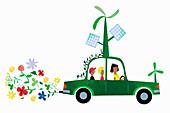 Green transport,illustration
