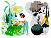 Investing in the environment,illustration
