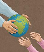 Environmental inheritance,conceptual illustration