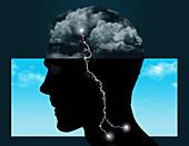 Mental health,conceptual illustration