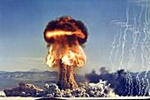 First atomic artillery shell detonation,1953