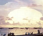 Hardtack I 'Oak' atom bomb test,1958