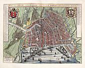 Map of Amsterdam,17th century