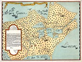 Map of New France,17th century