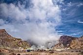 Whakaari volcano vent and tour helicopter,New Zealand