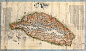 Map of Taiwan,19th century