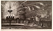 Imperial fireworks display,17th century