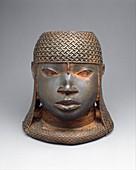 Brass oba sculpture from Benin,16th century
