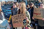 Climate change protest, Washington DC, USA