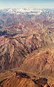 Chilean Andes,aerial photograph