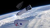 Deployment of Solar Orbiter spacecraft,illustration