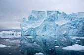 Seracs on a receding glacier