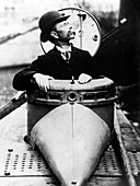 John Philip Holland in the submarine Holland, 1890s