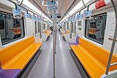Empty train during Covid-19 outbreak in China, 2020