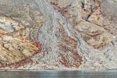Debris flow deposit,East Greenland