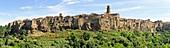 Italian medieval city on volcanic neck