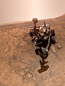 Curiosity rover at Glen Etive,Mars,composite image