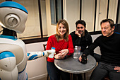 Romeo robot assistant with human friends