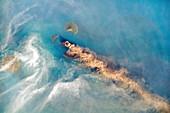 Volcanic activity at Anak Krakatoa,ISS image