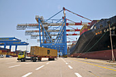 Lorry at container port