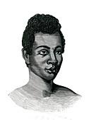 Madagascan woman,19th Century illustration