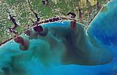 North Carolina flooding,September 2018,satellite image