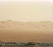 Dust storm on Mars,Curiosity rover image