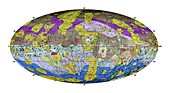 Geological map of the asteroid Vesta