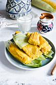 Sweet corn tamales