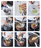 How to make rice with fermented wild herb tea and roseballs