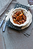 Spicy lamb ragout with lotus root