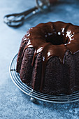 Gluten-free chocolate beetroot cake with chocolate frosting