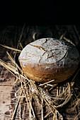 Hausgemachtes Brot mit Ährenmotiv