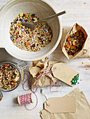 'Reindeer food' with seeds, oats and sweets