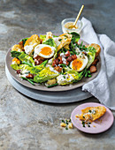 Bacon and egg salad with caesar dressing