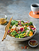 Sesame chicken and cashew crunch salad