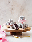 Microwave chocolate lamingtons