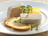 Goose liver terrine with pumpkin and apple chutney